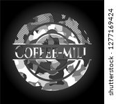 coffee mill grey camouflaged...   Shutterstock .eps vector #1277169424