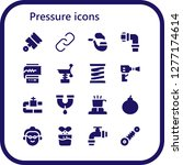 pressure icon set. 16 filled... | Shutterstock .eps vector #1277174614