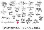 romantic lettering set.... | Shutterstock .eps vector #1277175061