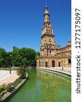 tower in plaza de espana ... | Shutterstock . vector #1277175097