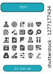 test icon set. 25 filled test... | Shutterstock .eps vector #1277177434