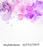 abstract background with... | Shutterstock .eps vector #1277177977