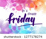 it's finally friday  ... | Shutterstock .eps vector #1277178274
