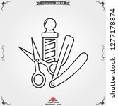 barber icon vector  for web and ... | Shutterstock .eps vector #1277178874