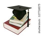 a graduating degree in school...   Shutterstock . vector #127718375