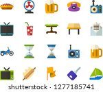 color flat icon set   flag flat ... | Shutterstock .eps vector #1277185741