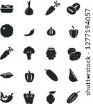 solid black vector icon set  ... | Shutterstock .eps vector #1277194057