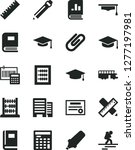 solid black vector icon set  ... | Shutterstock .eps vector #1277197981