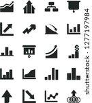 solid black vector icon set  ... | Shutterstock .eps vector #1277197984