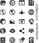 solid black vector icon set  ... | Shutterstock .eps vector #1277198017