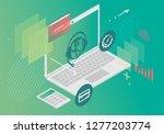 global customer support...   Shutterstock .eps vector #1277203774