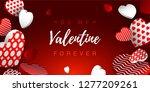 valentine s day horizontal... | Shutterstock .eps vector #1277209261