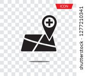add map pointer icon vector... | Shutterstock .eps vector #1277210341