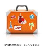 vector illustration of vintage... | Shutterstock .eps vector #127721111