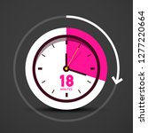 18 eighteen minutes icon with... | Shutterstock .eps vector #1277220664