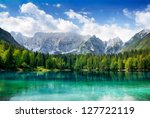 beautiful landscape with... | Shutterstock . vector #127722119