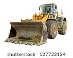 Dusty Big Bulldozer  Isolated...