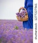 young girl in blue dress ... | Shutterstock . vector #1277227561