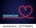 Valentines Day Neon Banner....