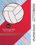 vintage stencil art volley ball ... | Shutterstock .eps vector #1277238604