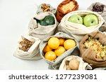 zero waste food storage eco bag ...   Shutterstock . vector #1277239081