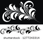 ornaments with floral elements...   Shutterstock .eps vector #1277243314