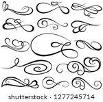 floral elements for invitation  ...   Shutterstock .eps vector #1277245714