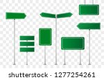 set of road signs isolated on... | Shutterstock .eps vector #1277254261