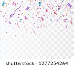 colorful bright confetti... | Shutterstock .eps vector #1277254264