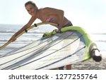 portrait of woman in bikini... | Shutterstock . vector #1277255764