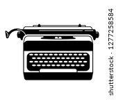 office typewriter icon. simple... | Shutterstock .eps vector #1277258584