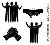 brotherhood icon set. simple... | Shutterstock .eps vector #1277259037
