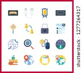 16 information icon. vector... | Shutterstock .eps vector #1277264317