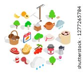 cozy evening icons set.... | Shutterstock .eps vector #1277265784