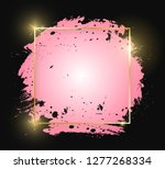 gold shiny glowing square frame ... | Shutterstock .eps vector #1277268334