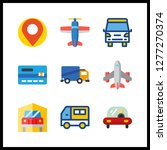 9 commercial icon. vector... | Shutterstock .eps vector #1277270374