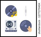 4 disc icon. vector... | Shutterstock .eps vector #1277270404