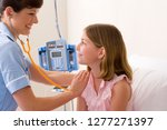 female doctor with stethoscope... | Shutterstock . vector #1277271397