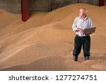 farmer with laptop with... | Shutterstock . vector #1277274751