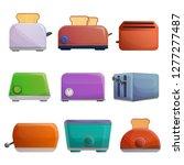 toaster icon set. cartoon set... | Shutterstock .eps vector #1277277487