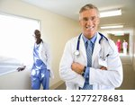 portrait of mature male doctor... | Shutterstock . vector #1277278681