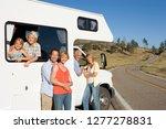 multi generation family... | Shutterstock . vector #1277278831