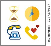 4 dial icon. vector... | Shutterstock .eps vector #1277279887