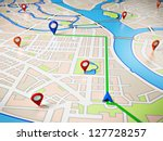 street map with gps icons.... | Shutterstock . vector #127728257