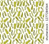 seamless hands drawn autumn... | Shutterstock .eps vector #1277284564