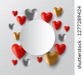 valentine s day sale black...   Shutterstock .eps vector #1277289424