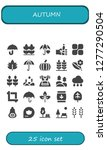 autumn icon set. 25 filled... | Shutterstock .eps vector #1277290504