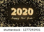 golden vector luxury text 2020... | Shutterstock .eps vector #1277292931