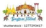 happy songkran festival is the...   Shutterstock .eps vector #1277293417