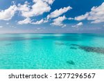 calm sea and blue sky... | Shutterstock . vector #1277296567